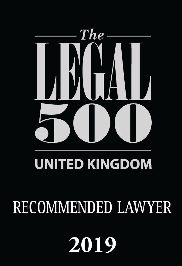 Legal 500 Recommended Lawyer award logo